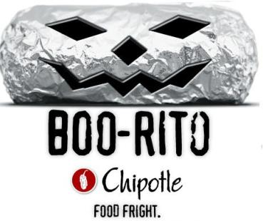 Chipotle Halloween Boo-rito $2 night