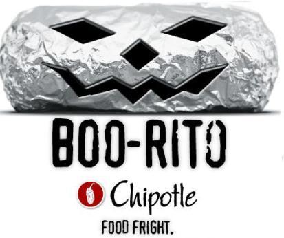 Chipotle Halloween Boo-rito $2 night
