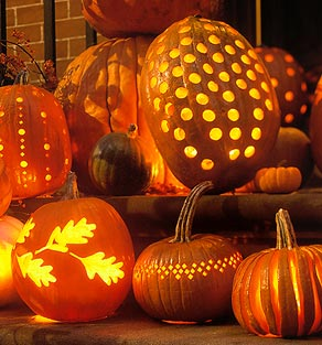 Free pumpkin carving stencils jack o lantern patterns for Pumpkin cut out ideas