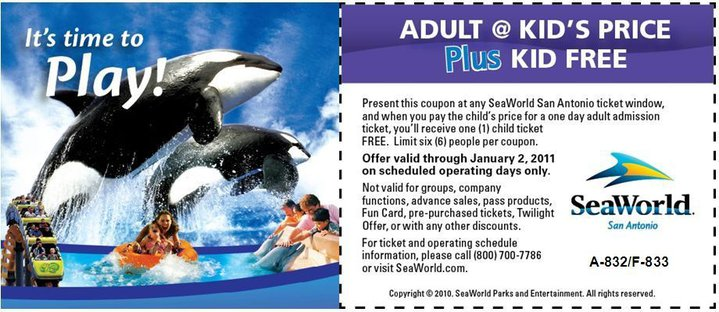 photo relating to Seaworld San Antonio Coupons Printable known as Terrific Offer: Sea World wide San Antonio Printable Coupon ~ Youngsters