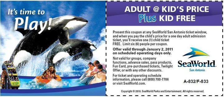 photo relating to Seaworld San Antonio Coupons Printable known as Terrific Offer: Sea World wide San Antonio Printable Coupon ~ Youngsters