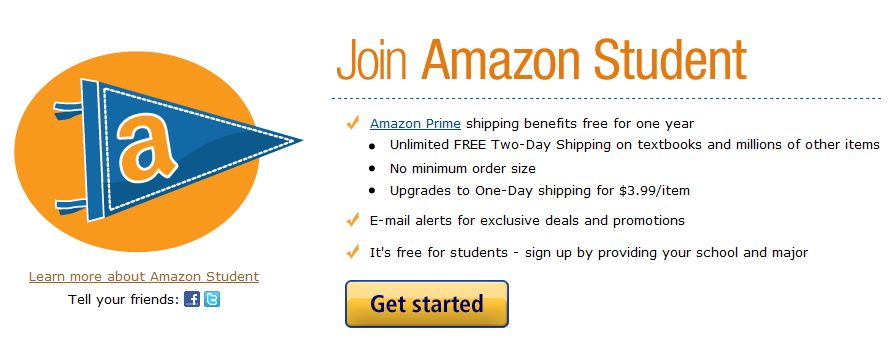 College-bound kids can sign up for a free six month Amazon Prime Student membership, which includes free two-day shipping and other benefits.. Students can sign up with spiritmovies.ml email to get.