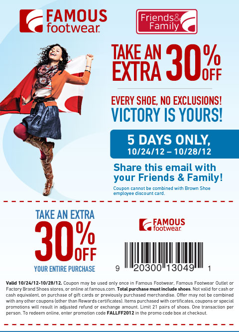 graphic about Famous Footwear Printable Coupon named Well-known Shoes Coupon Frugal within Fort Worthy of Site Coupon