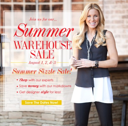 Sharon Young Warehouse Sale August 2013