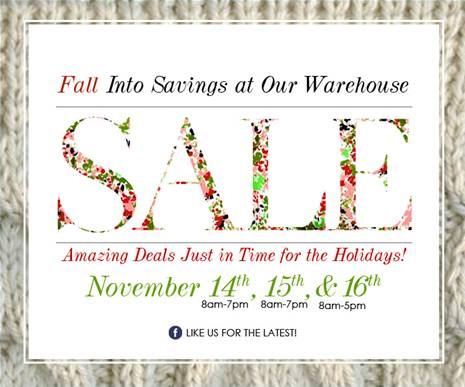 Ladies Designer Brand Warehouse Sale November 14 15 16 2013