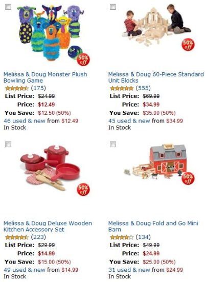 50% Off Melissa & Doug Toys at Amazon