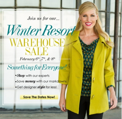 Sharon Young Ladies Designer Brand Warehouse sale February 2014 save date c