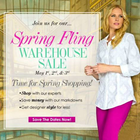 Ladies Designer Brand Wareshouse Sale May 2014