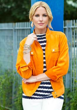 Sharon Young Orange Jacket 2014