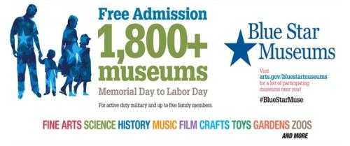 Blue Star Museums banner