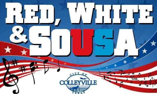 colleyville red white sousa