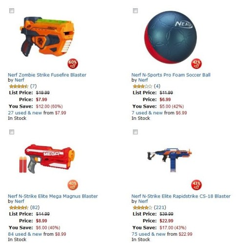Amazon Nerf Toys Deal of the Day