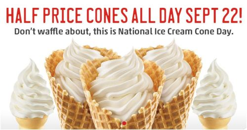 Sonic half price ice cream cones