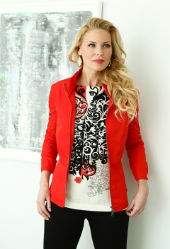 Sharon Young Red and Black top nov 2014
