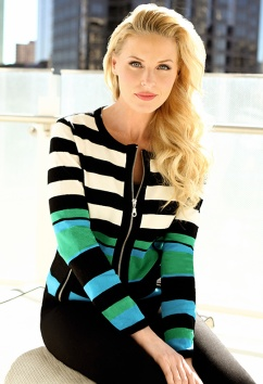 Sharon Young striped cardigan nov 2014