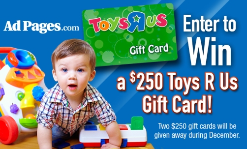 AdPages Toys R Us Gift Card Giveaway 851x515