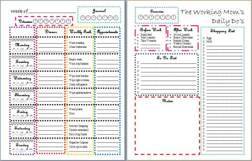 5 FREE Printables To Organize Your Life in 2015   Frugal