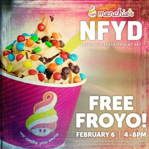 Menchies Free Yogurt