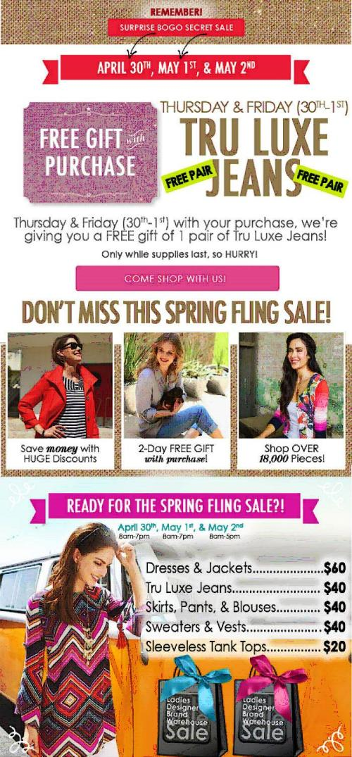 May 2015 Sharon Young Sale Flyer