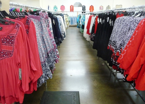 Sharon Young Warehouse Sale May 2015 rows of clothes