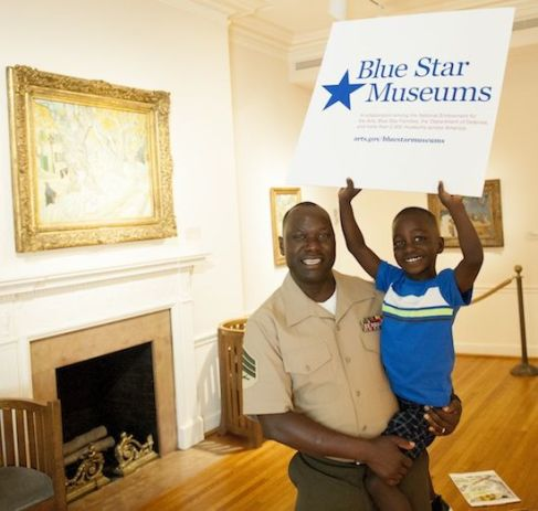 Blue Star Museums family picture