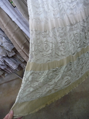 Sharon Young Warehouse Sale July 2015 Neutral Linen and Lace Skirt