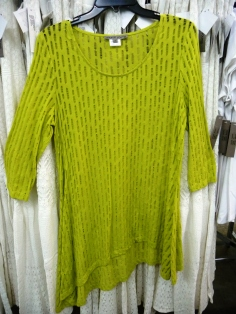 Sharon Young Warehouse Sale July 2015 -- Yellow Green Top
