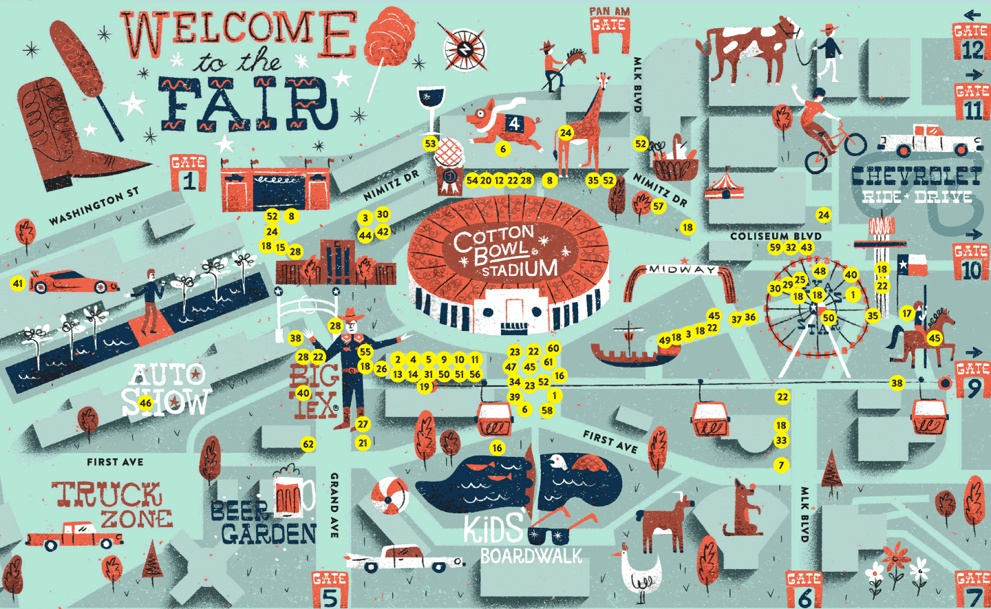 Map Of Texas State Fair