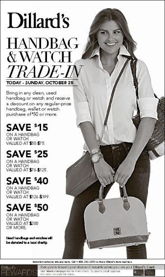 Dillard's Handbag trade in