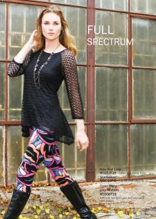 Black Top & colorful Leggings Sharon Young