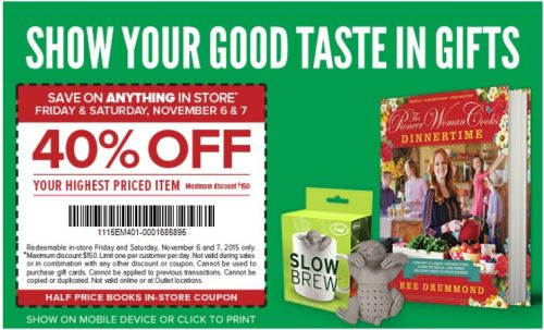 Half Price Books Coupons 2015