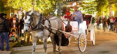 West 7th Holiday Carriage Rides free