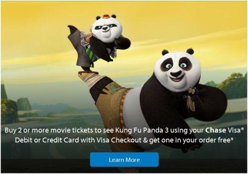 Kung Fu Panda 3 Chase Visa Free Tickets