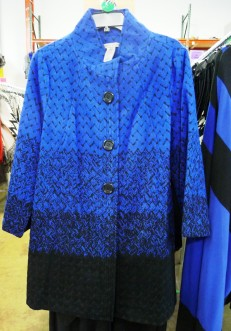 Feb 2016 Sharon Young Warehouse Sale Blue Black Jacket